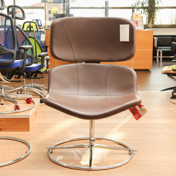 WAGNER - W-Lounge Chair 3 Leder